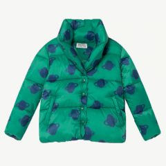 """All Over Big Saturn"" Padded Jacket in Peppergreen"