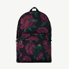 Romance Foldable Velvet Backpack in Purple