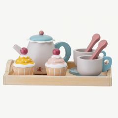 Teaparty Wooden Food Play Set in Multicolor