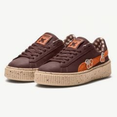 Basket Platform Sneakers in Winered