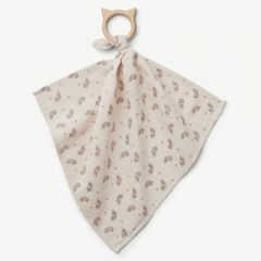 Dines Teether Cuddle Cloth in Fern/Rose