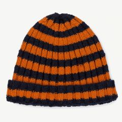 Orange Striped Beanie
