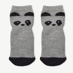 Nellie Anti Slip Socks Panda in Gray, Pack of 2