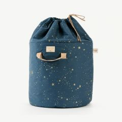 Bamboo Toy Bag in Gold Stella & Night Blue
