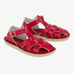 Shark Ledersandalen für Kinder in Rot