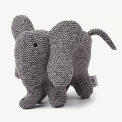 """Vigga"" Mini Strick-Elefant in Grau"
