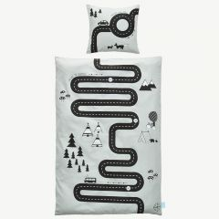 "Gray ""Adventure"" Bedding with Street Print"
