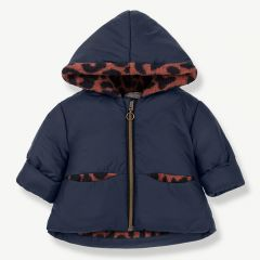 """Regina Hood Jacket in Blue/ Caldera"