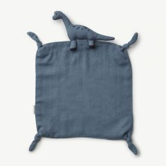 Agnete Cuddle Cloth Dino in Blue Wave