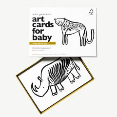 """""""Safari"""" Black and White Art Cards with Exotic Animal Motifs"""