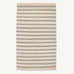 Nature Cotton Rug with Stripes