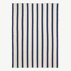 """Pinstripe"" Blanket in Blue"