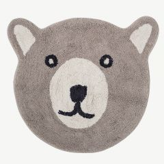 Brown Bear Cotton Rug