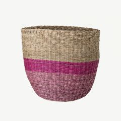 Seagrass Basket in Rose