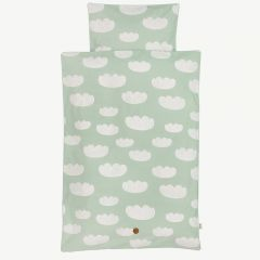 """Cloud"" Mint Baby Bedding with Cloud Print"