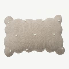 Knitted cushion Biscuit
