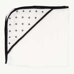 """Swiss Cross"" White Hooded Bath Towel"