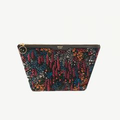 Leila Velvet Beauty Bag in Multicolored