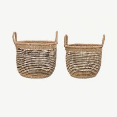 Seagrass Basket in Nature (set of 2)
