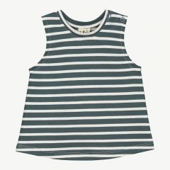 Baby Striped Tank Top in Blue Gray/White Stripe