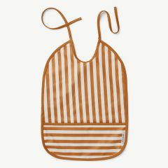 Lai Bib with Stripes: Mustard/Creme de la crème