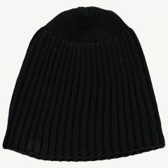Ribbed Hat in Black