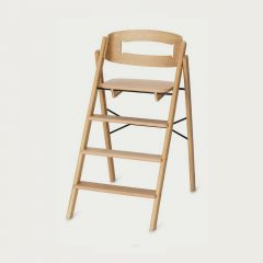 Klapp Foldable High Chair in Natural Oak