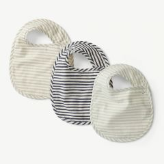 Stripes Away 3pk Bib Set  - Sea