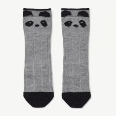 Sofia Wool Knee Socks in Gray