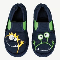 """Moonstar"" navy blue slippers"