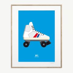 "LE DUO ""Roller"" Poster in Blau"