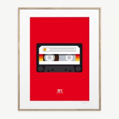 LE DUO 80 K7 AUDIO 05 Poster in Red