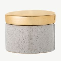 Nature Stoneware Jar with Lid