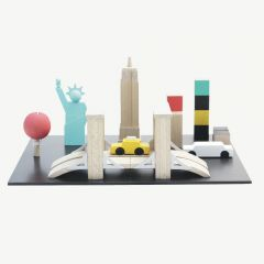 """New York Machi Town"" Miniature Wooden Toy"