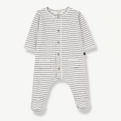 """""""Girona"""" Overall with Feet in White/ Black"""