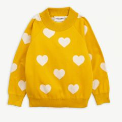 Knitted Heart Sweater in Yellow