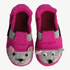 """Little Cuties"" raspberry slippers"