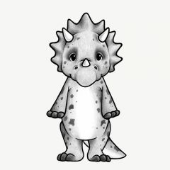 Wallsticker Trixi the Triceratops