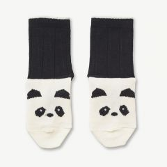 Silas Cotton Socks Panda in Creme de la crème (2 pack)