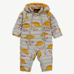 """Ufo"" Insulator Baby Overall in Grey"