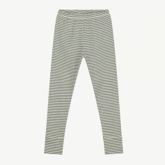 Leggings with Stripes in Moss/ Cream