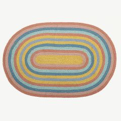 Jute Rug in Multicolor