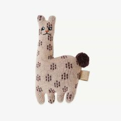 Baby Rattle - Lama in Rose