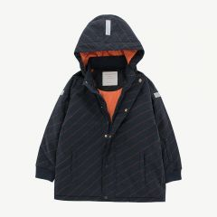 """Diagonal Stripes"" Winterjacke in Dunkelblau"