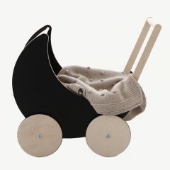 Wooden Toy Pram with Blackboard Sides