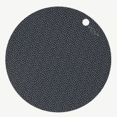 Dark Gray Placemat Set with Dots (2 Pieces)