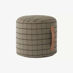 Grid Pouf in Braun