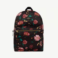 Flowers Backpack in Black/ Multicolored
