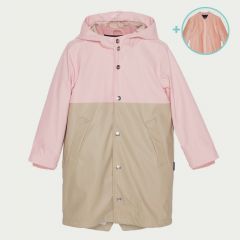 Reservoir Dogs 3 in 1 Wasserdichte Jacke in Rosa/ Altrosa