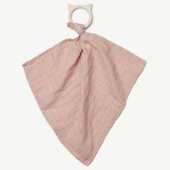 Dines Teether Cuddle Cloth in Classic Dot Rose